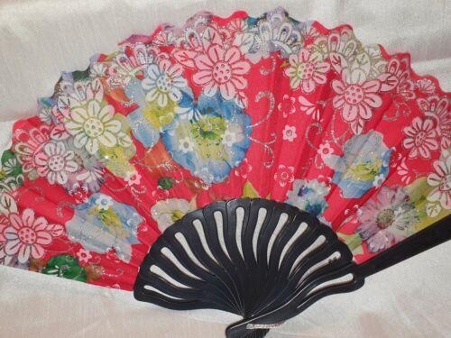 Joblot of 36 pcs Flower Design Spanish Folding Hand Fan  NEW Wholesale lot 12