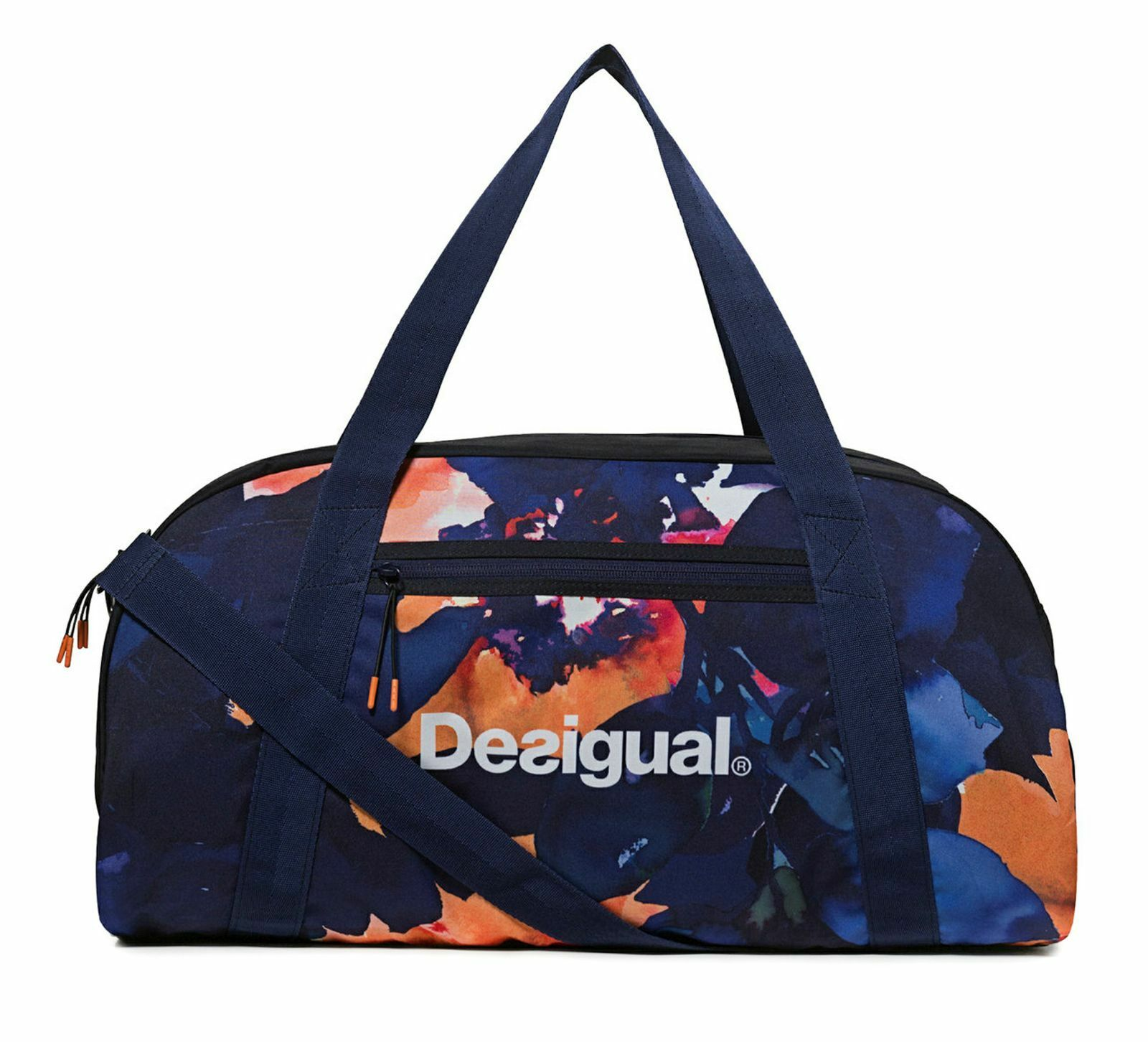 Desigual Camo Flower Victoria Gym Bag Sporttasche Tasche bluee Tinta bluee orange