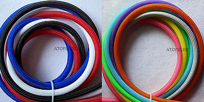 Solid Color 2MM-16MM TIGHT Braided PET Expandable Sleeving Cable Wire Sheath