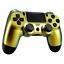 Controleur-ps4-jdm-040-Case-Cover-Housse-Boitier-Front-chamelon-Gold-Slim-Pro