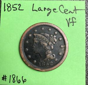 1852-1c-Braided-Hair-Large-Cent-Vf-Very-Fine