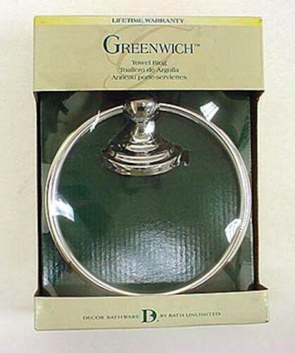 138272 Greenwich Bath Towel Ring Chrome Finish