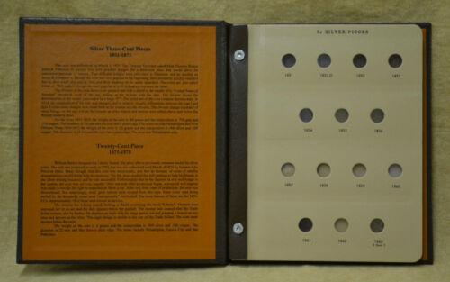 NO COINS 3 CENT SILVER /& 20 CENT PIECES DANSCO ALBUM #6109-1851 to 1876