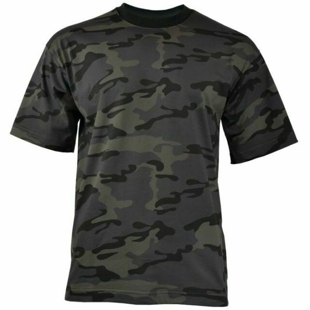 MFH T-Shirt US Army-Style Halbarm 100/% Baumwolle Reaktivdruck Night Camo