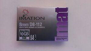 Imation-D8-112-8mm-10GB-5GB-Black-Watch-Data-Tape-NUOVA