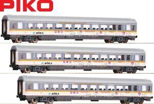 Piko-H0-58676-S-Personenwagen-Alex-1-2-Klasse-3-Stueck-NEU-OVP