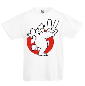 Ghostbusters Peace Kid/'s T-Shirt Children Boys Girls Unisex Top