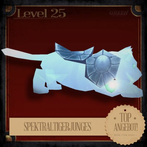 » SpektraltigerjungesSpectral Tiger Cub World of Warcraft TCG Haustier L25 «