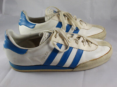 70s 80s vintage Adidas KEGLER Turnschuhe Gr. 40 UK 6,5