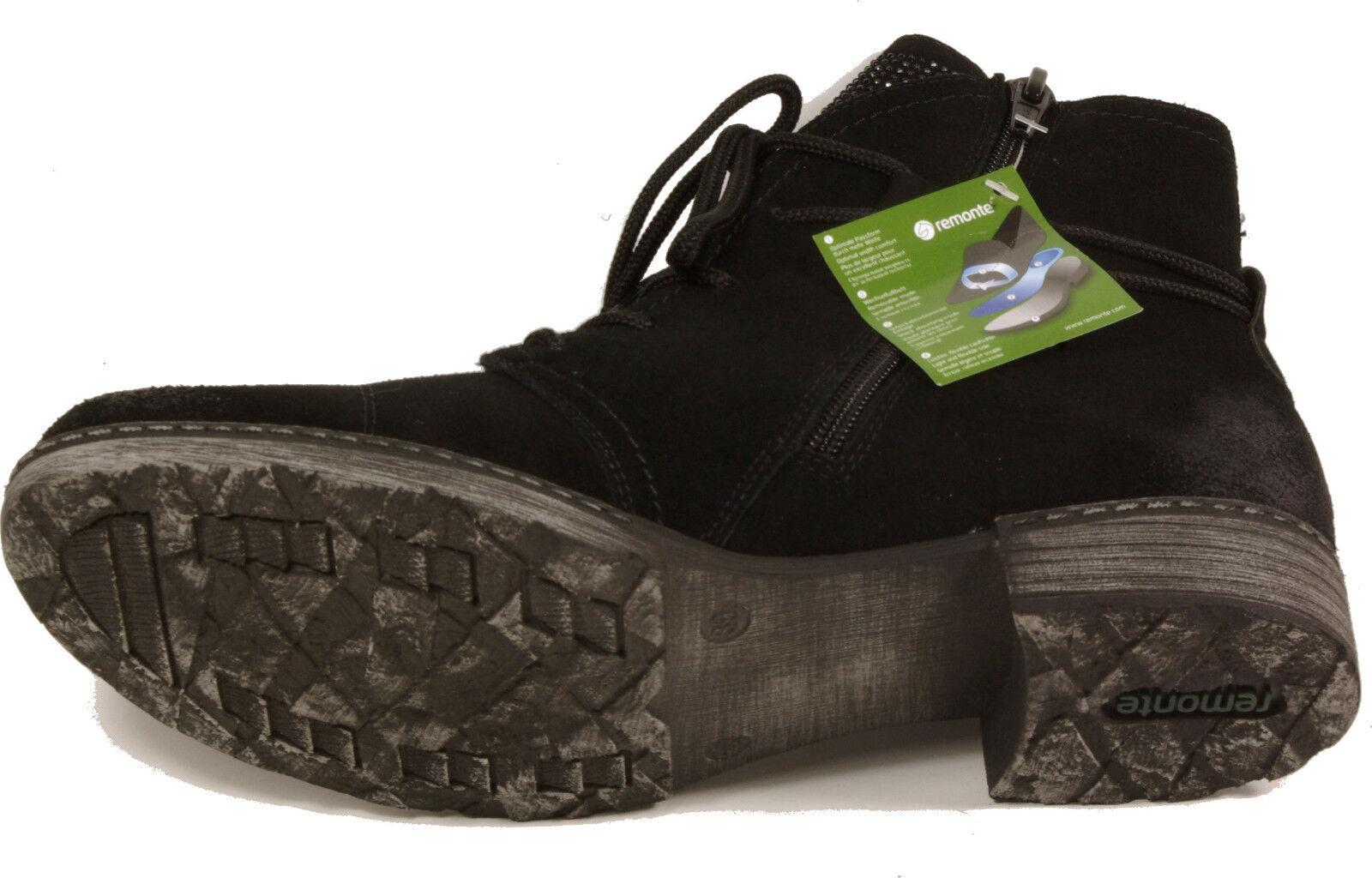 REMONTE Stiefeletten Schnürstiefel Ankle Ankle Ankle Stiefel schwarz Leder Reißverschluss NEU 3ddcf5