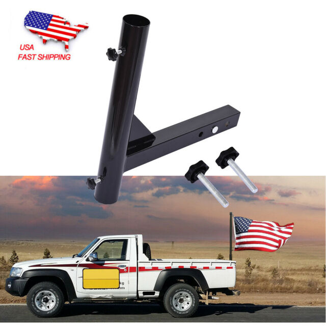 Bentolin Durable Hitch Mount Flagpole Holder with Anti-Wobble Screws Universal for Standard 2-Inch Hitch Receivers