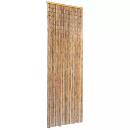 vidaXL Rideau Porte Contre Insectes Bambou Pare-vue Moustiquaire Multi-taille