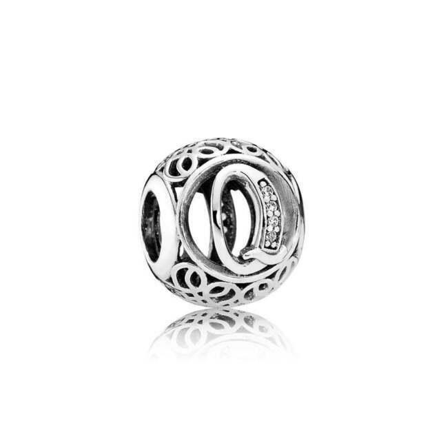 14mm Silver Plated Bezel Slide Charm Pendants Pick your Amount D196