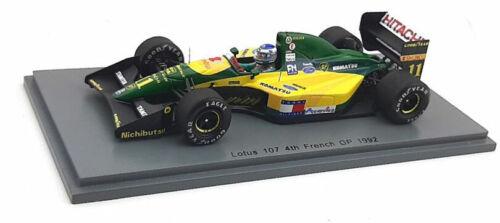 SPARK S5355 LOTUS 107 #11 French GP 1992-Mika Häkkinen échelle 1//43