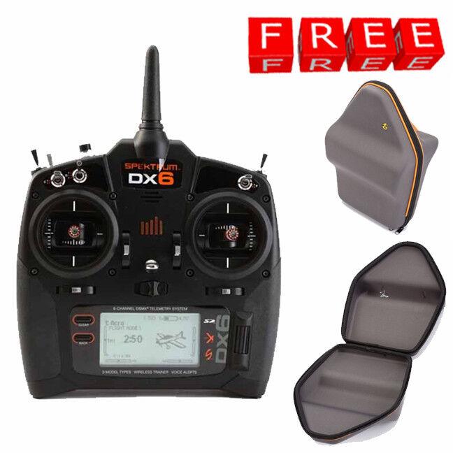 Spektrum DX6 6 Canales Dsmx Transmisor de modo ® 2  aire Heli Planeador Con Estuche Gratis