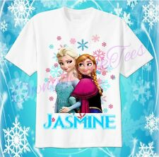 FROZEN Anna Elsa Custom T-shirt Personalize Birthday gift Disney
