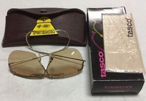 7aeceaf01ed7 Image is loading Tasco-Shooting-Glasses-1165PB-Photo-Brown-Plastic-Lens-