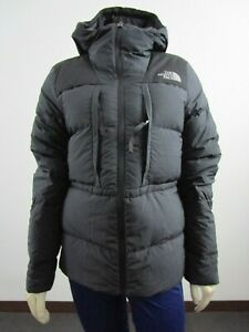 NWT Womens The North Face UX (Nuptse) 550-Down Insulated Hooded Jacket - Black