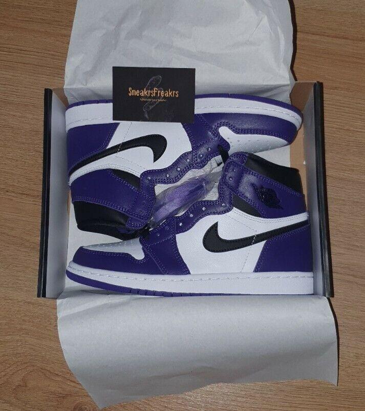 Jordan 1 Retro High Court Purple White UK4.5✅AVAILABLE - FAST DISPATCH 🚚