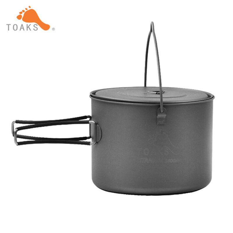 TOAKS POT-1600-BH Titanium  Pot Outdoor Camping Haing Pot with Titanium Cover  unique design