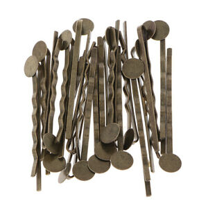 20pcs-Metal-Hair-Pin-Clip-Blanks-Glue-Pad-Findings-Craft-Choice-of-Colors