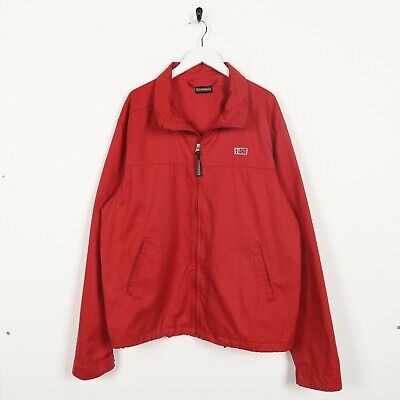 Vintage NAPAPIJRI Small Logo Zip Up Harrington Style Jacket Red 2XL | eBay