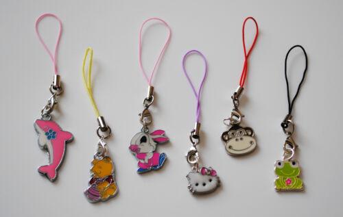 Móvil phone//handbag//mp3 cordón con elección de los animales Clip En Dijes