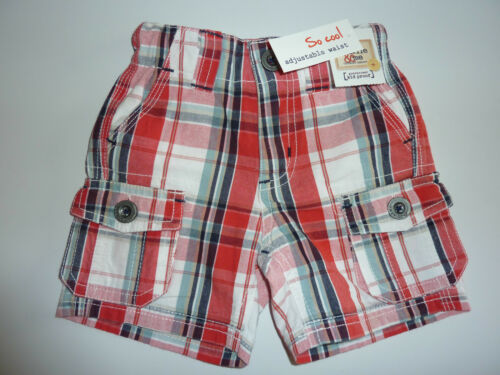 Charlie /& Me De Cuadros Rojos Pantalones cortos estilo cargo con Cintura Ajustable Nuevo Con Etiquetas