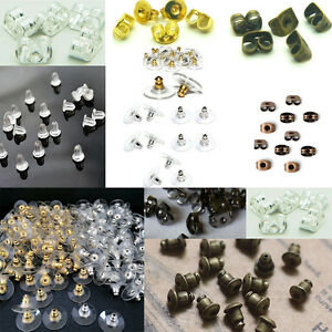 5001000Pcs Rubber Earring Back Stoppers Ear Post Nuts Jewelry Findings Wholesale