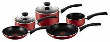 NEW Red Tefal Bistro 5-Piece Cookware Saucepan Sets Non Stick Pots and Pans Set