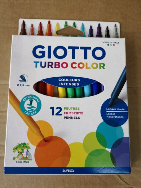 GIOTTO Fasermaler Turbo Glitter 8 metallic Farben