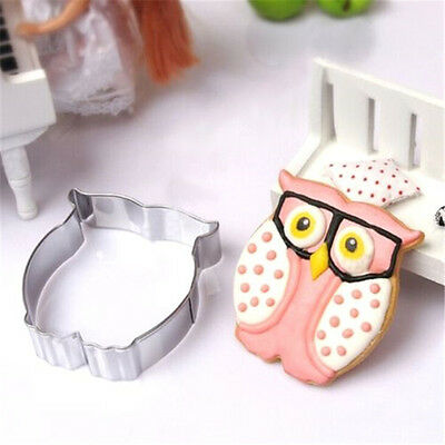 Stainless Steel Cookie Cutter Cake Baking Mould Biscuit DIY Owl Mould ☆