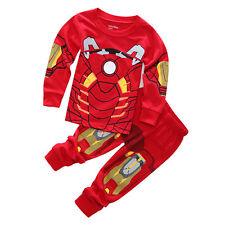 Spiderman Kids Toddle Sleepwear Boys Girls Pyjamas Pj's Pikachu Outfits Sets