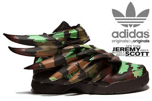 77f3a20e2e1b ADIDAS JEREMY SCOTT WINGS 3.0 SAUVAGE JS CAMO SHOES SIZES 4-13 100 ...
