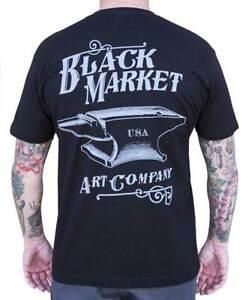 Détails Sur Arrière Homme Black Graphique Coton Fer T Market Shirt Anvil Tattoo Art Company TFKcl1J
