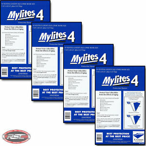 200-E-GERBER-MYLITES-4-SILVER-amp-GOLDEN-AGE-Mylar-Comic-Bags-Sleeves-775M4