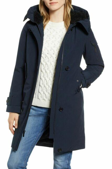 Navy Blue Parka Jacket Womens