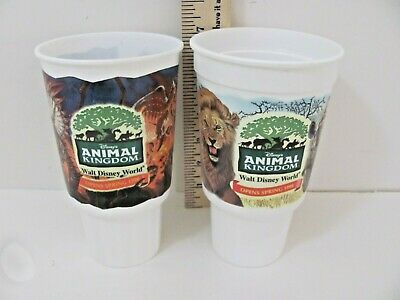 McDonalds Disney's Animal Kingdom 1998 Full Set of 4 Plastic Cups