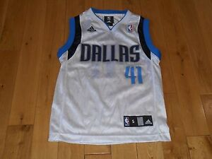 Image is loading adidas-DIRK-NOWITZKI-White-DALLAS-MAVERICKS-MAVS-Youth- cdbfd8afd