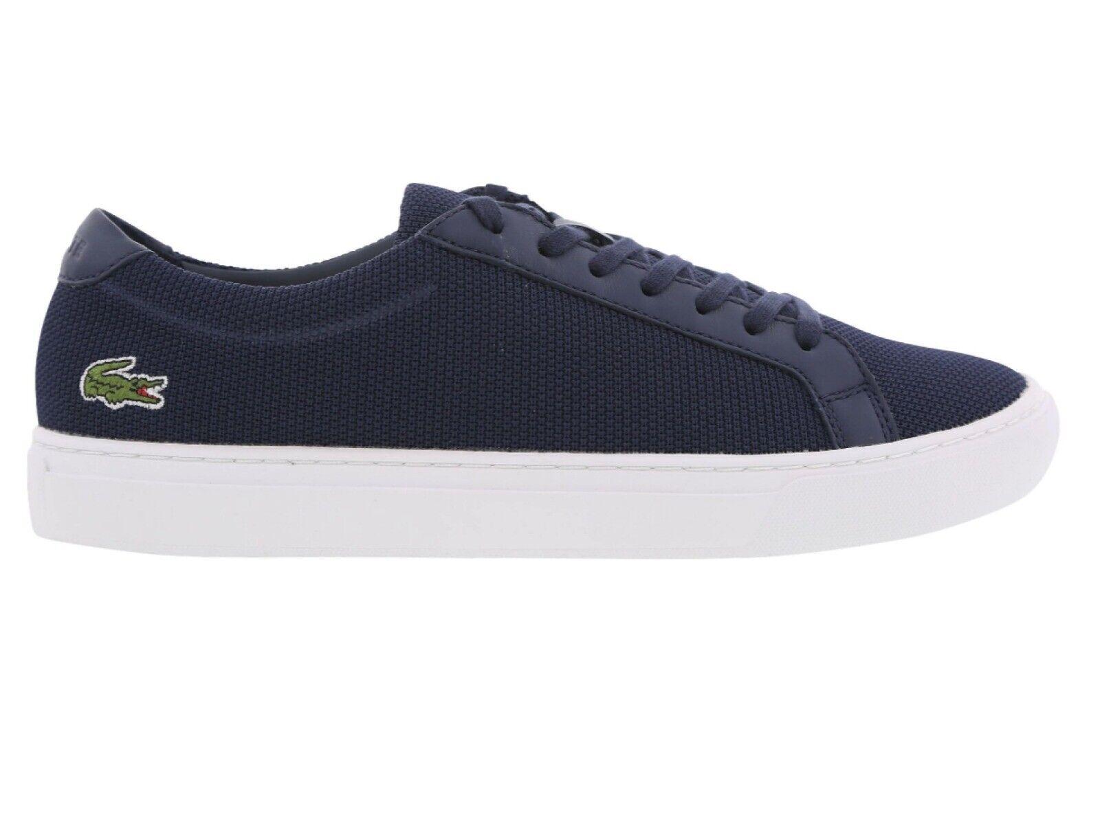 Lacoste L.12.12 BL 2 Cam Azul Marino Textil Zapatilla Zapato Para Hombre nuevo PVP