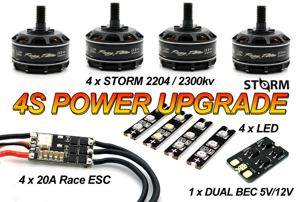 Storm 4s racing Power Upgrade Pack-Extreme quadcopter racing Besteia FPV cc3d