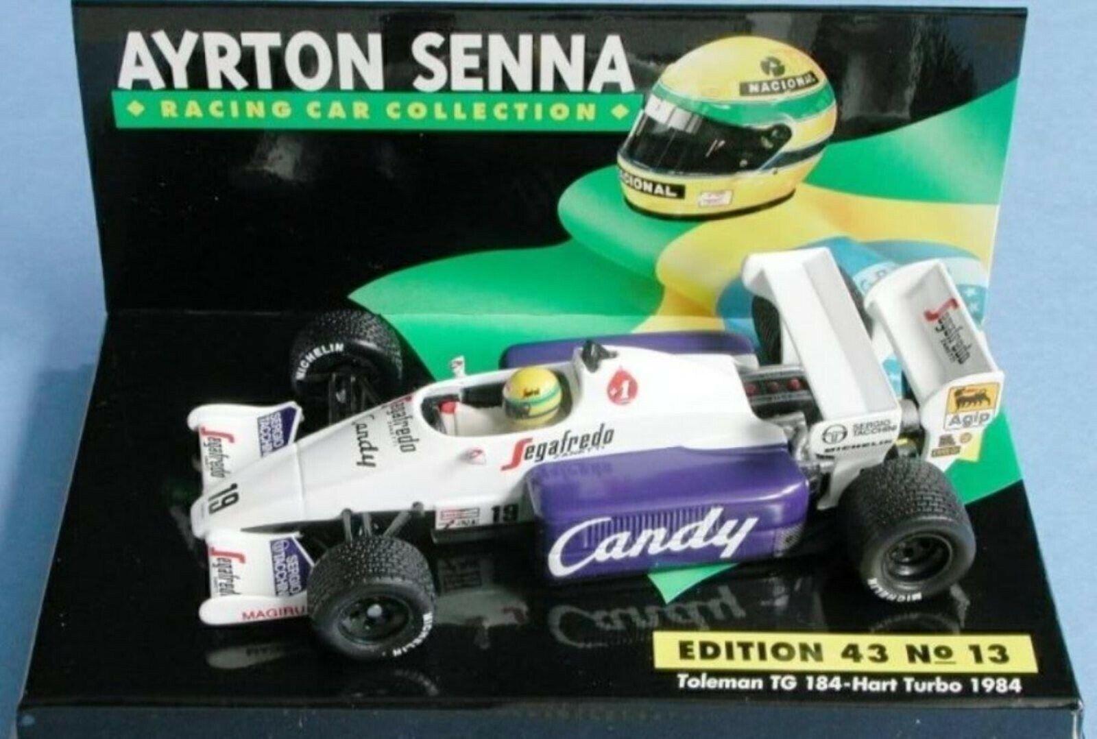 WOW EXTREMELY RARE Toleman TG184 Senna Monaco 1984 R.Tires ASC13 1 43 Minichamps