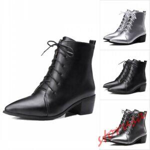 Stylist Women Mid Block Heel Pointy Toe