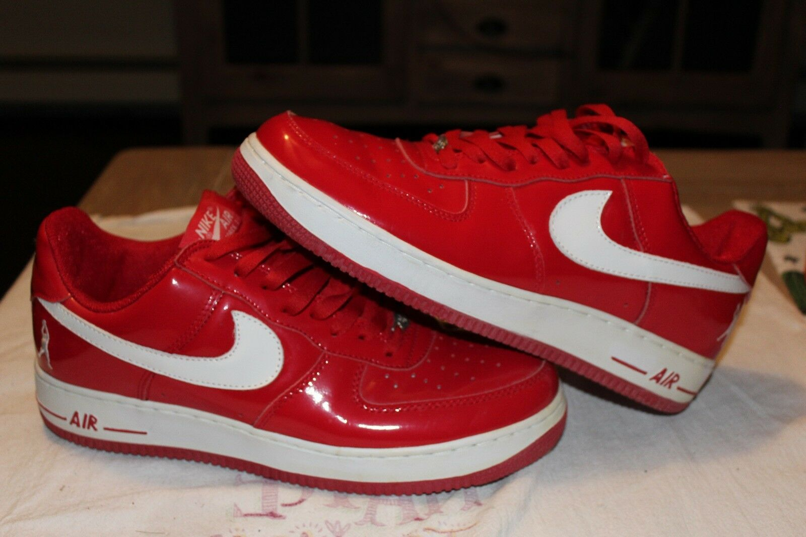 Nike Air Force Low Rasheed Wallace Patent Red