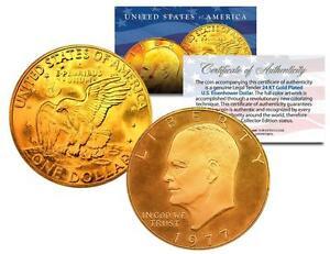 1977 Eisenhower Ike Dollar Moon Landing Of Apollo 11 24k