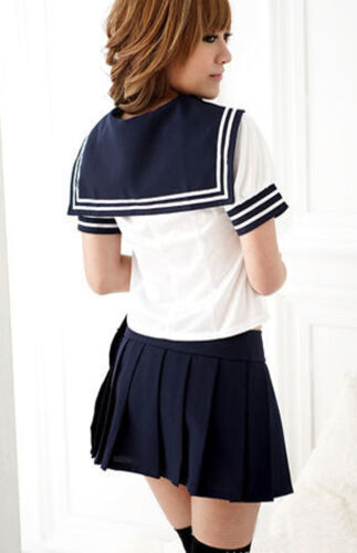 Hot Japanese School Students Girl Uniform Women Sailor Outfit Cosplay Costume