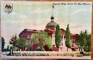 Vintage-postcard-Capirol-Building-Santa-Fe-New-Mexico