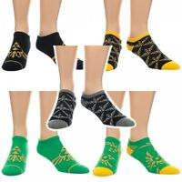5 Pairs Official Nintendo Legend Of Zelda Skyward Sword Womens Ankle Socks Lot