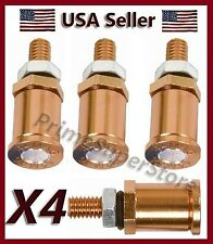 44 Metal Mag Bullet License Plate Frame Fasteners Car/Motorcycle Screws / Bolts