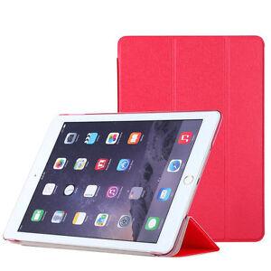 2x-Pellicola-Custodia-smart-cover-ROSSA-per-Apple-iPad-Air-2-2014-case-stand-RED